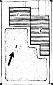 Схема размещения сооружений на участке